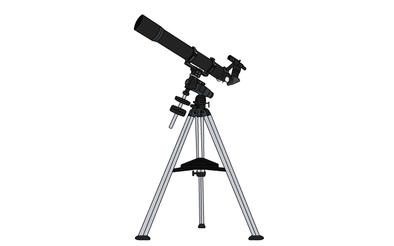 It is a Refracting Telescope