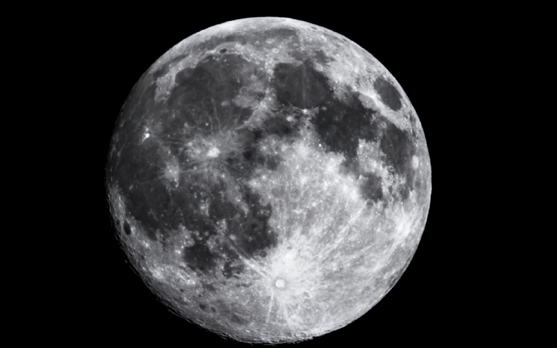 magnification of moon